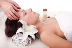 Young woman in spa salon Royalty Free Stock Image