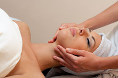Young woman in a spa salon royalty free stock photo