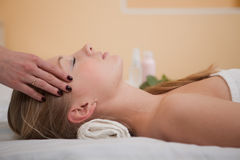 Young woman in spa salon Royalty Free Stock Photo