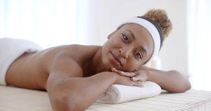 Young Woman In Spa Salon Stock Photography