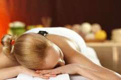Young woman on spa treatment Royalty Free Stock Photography
