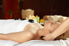 Young woman on spa treatment Stock Photo
