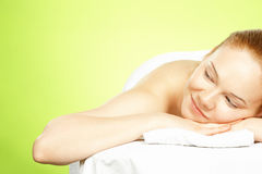 Young woman on spa treatment Stock Image