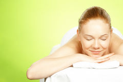 Young woman on spa treatment Stock Images