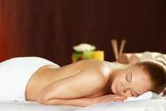 Young woman on spa treatment Royalty Free Stock Images