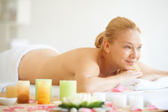 Young woman on spa treatment Royalty Free Stock Photo