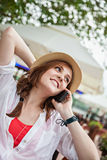 Young Woman Speaking On Smart Phone Royalty Free Stock Image