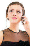 Young woman speaks on phone Stock Photography