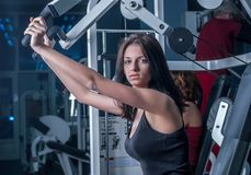 Young woman in sport club Royalty Free Stock Photo