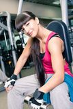 Gym room girl Royalty Free Stock Image