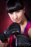 Tae Bo Girl Royalty Free Stock Photo