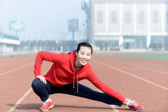 Young woman in sport wear doing sport Royalty Free Stock Photo
