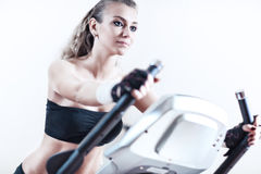 Young woman sports training Royalty Free Stock Image