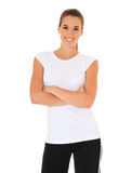 Young woman in sports wear Stock Photos