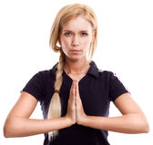 Young woman in sports wear meditation Royalty Free Stock Images