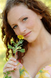 Young woman spring time Royalty Free Stock Images