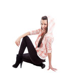 Young woman in squatting position Stock Photography