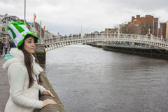 Young woman with St. Patrick's hat Royalty Free Stock Photo