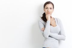 Young woman standing arms crossed Royalty Free Stock Photos
