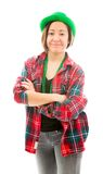 Young woman standing with her arms crossed Royalty Free Stock Image