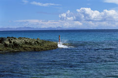 Free Young Woman Standing On Rocks, Looking Out To Sea Stock Photos - 6078463