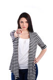 Young woman standing and pointing you Stock Images