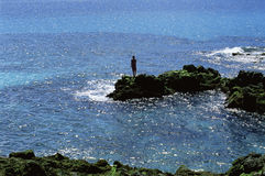 Free Young Woman Standing Rocks, Looking Out To Sea Royalty Free Stock Photo - 6078515