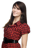 Young woman standing straight Royalty Free Stock Photos