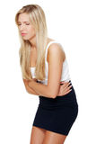 Young woman with stomach issues Royalty Free Stock Image