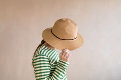 Young woman in a straw hat Stock Photos