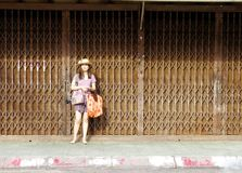 Young woman on the street Royalty Free Stock Image