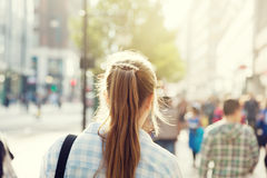 Young woman on street Stock Photography