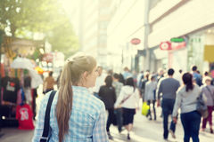 young woman on street Royalty Free Stock Photo