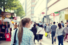 Young woman on street Royalty Free Stock Photos