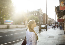 Young woman on street Royalty Free Stock Image