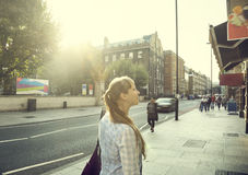 Young woman on street Stock Image