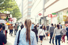 Young woman on street of London Stock Photo