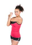 Young woman stretches her musculature Stock Images