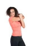 Young woman stretches her musculature Royalty Free Stock Image