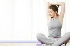 Young Woman Stretching Royalty Free Stock Images