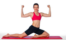 Young woman stretching exercise Stock Photos