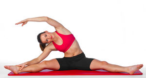 Young woman stretching exercise Stock Photography