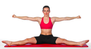 Young woman stretching exercise Stock Photo