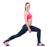 Young woman stretching exercise Royalty Free Stock Photography