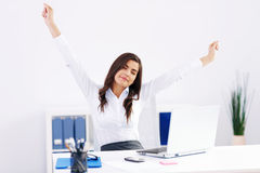Woman at office Royalty Free Stock Photography