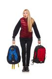 Young woman student with backpack Royalty Free Stock Images