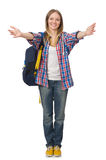 Young woman student with backpack Stock Photography