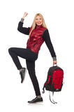 Young woman student with backpack Royalty Free Stock Photo