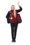 Young woman student with backpack Stock Photo