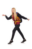 Young woman student with backpack Royalty Free Stock Image